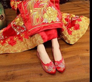 Chinese Wedding Silk Embroidered Shoes