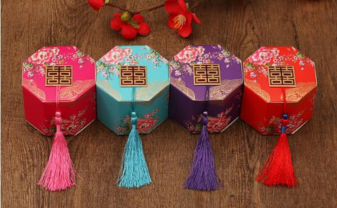 100pcs/lot Double Happiness Gift Box for Chinese Wedding