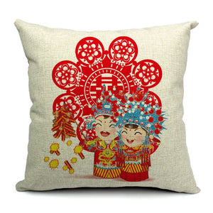 Double Happiness Cushion for Chinese Wedding - Chinese Wedding