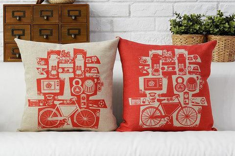 Double Happiness Cushion Cover for Chinese Wedding