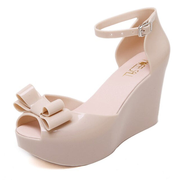 High Heels Peep Toe Waterproof Sandals