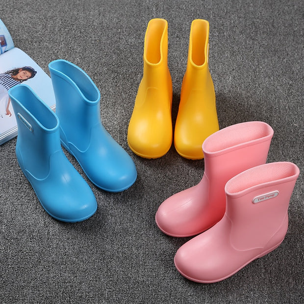 Baby Girls Boys Waterproof Non-slip Rain Shoes