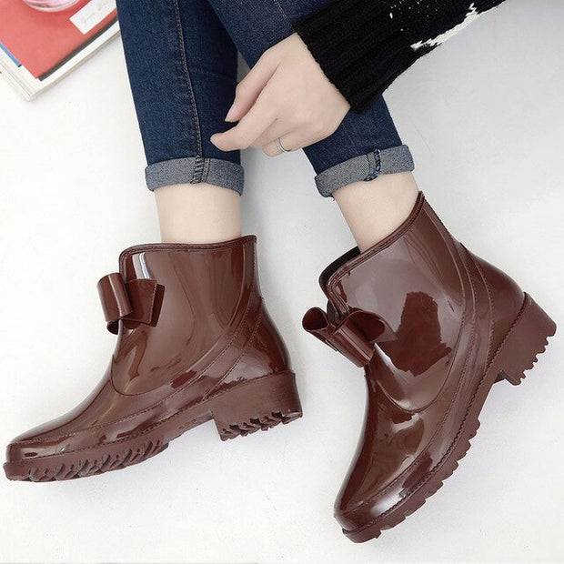 Women's Short Rubber Rain Boots