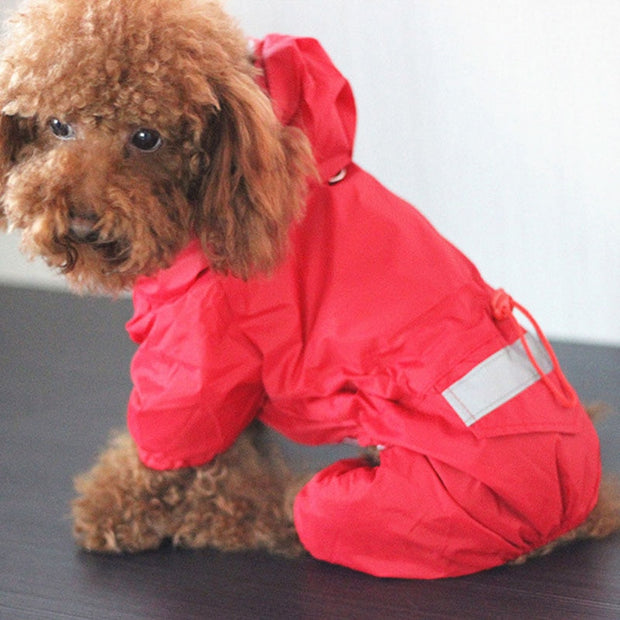 Hooded Reflective Pet Raincoat