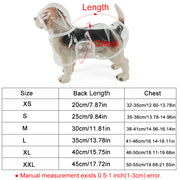 Waterproof Dog Raincoat With Transparent Hoody