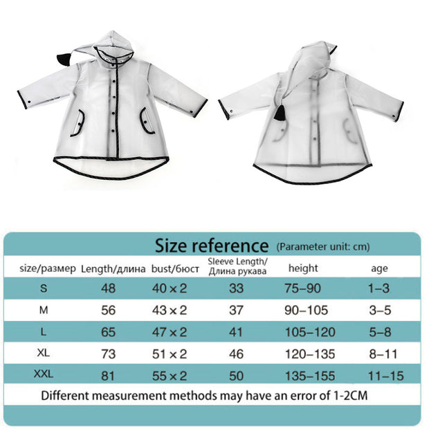 Cartoon Kid Waterproof Rain Suit