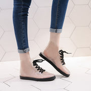 Cotton Covers Lace-Up Winter Rain Shoes