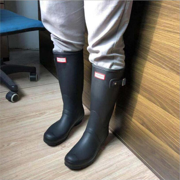 Rubber Boots Waterproof Antiskid Matte Color Shoes
