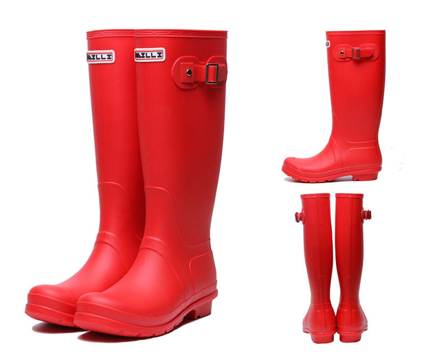 Women Rubber Tall Rain Boots