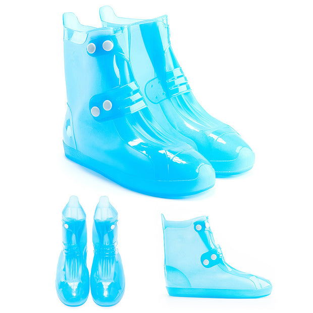 Unisex Seamless Travel Waterproof Anti-Slip Rain Shoes