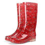 Anti-Skid Wear-Resistant Women's Printed Rain Boots
