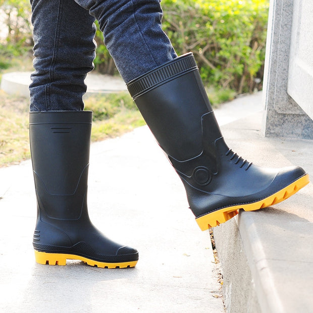 Men Solid Color Rain Boots