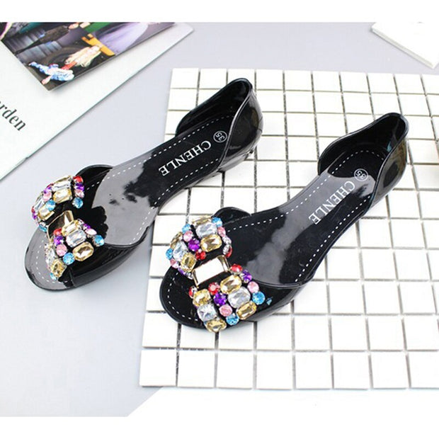 Bowknot Waterproof Women Jelly Shoes