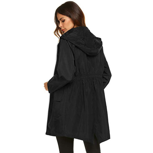 Women's Long Hoodies Raincoat