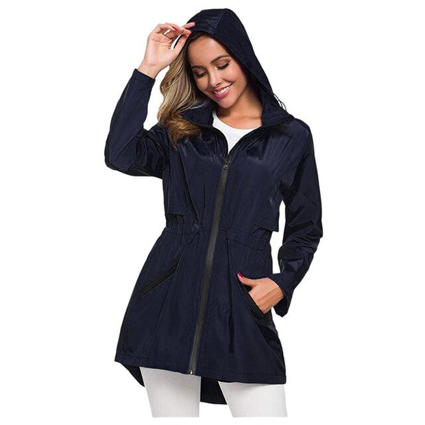 Waterproof Hooded Windproof Loose Coat