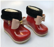 Baby Girls Warm Beauty Bow Jelly shoes