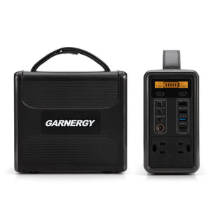 GARNERGY Portable Power Station Solar Generators with PD 45W USB-C Fast Charging QC 3.0 Lithium Iron Phosphate Battery for Home Emergency, Outdoor Power Supply for Camping