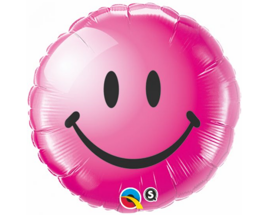 Smiley Face Pink Balloon