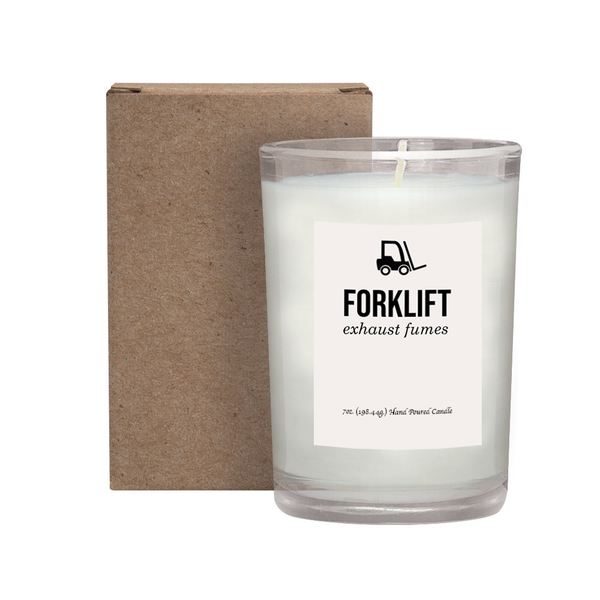 Forklift Exhaust Fumes Candle