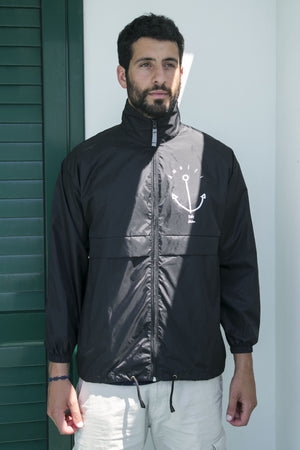 "Wind jacket ""Anchor"" with hood _Giacca a vento - JP Amalfi"