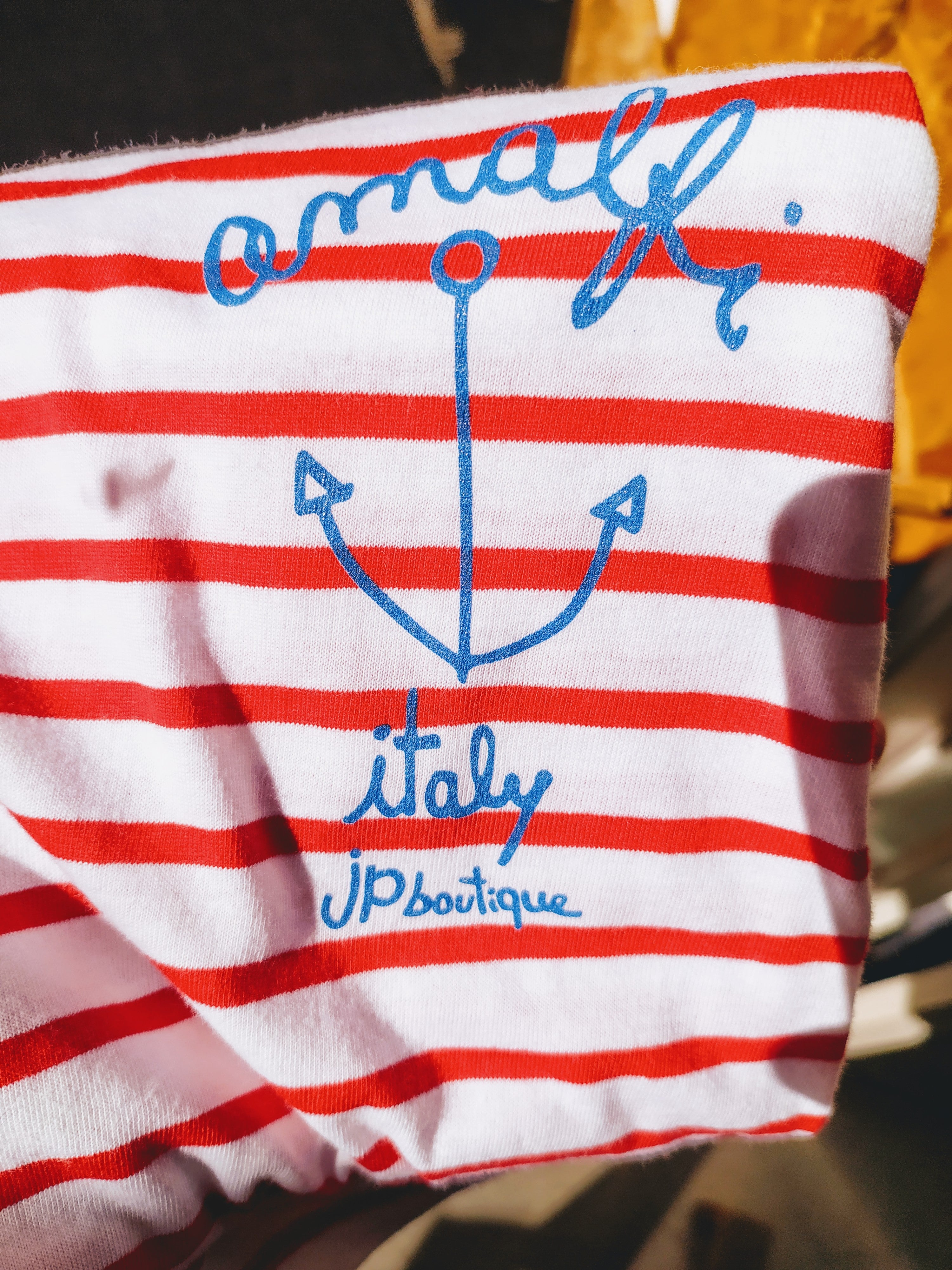 Anchor and stripes  _ unisex t-shirt by JP - JP Amalfi