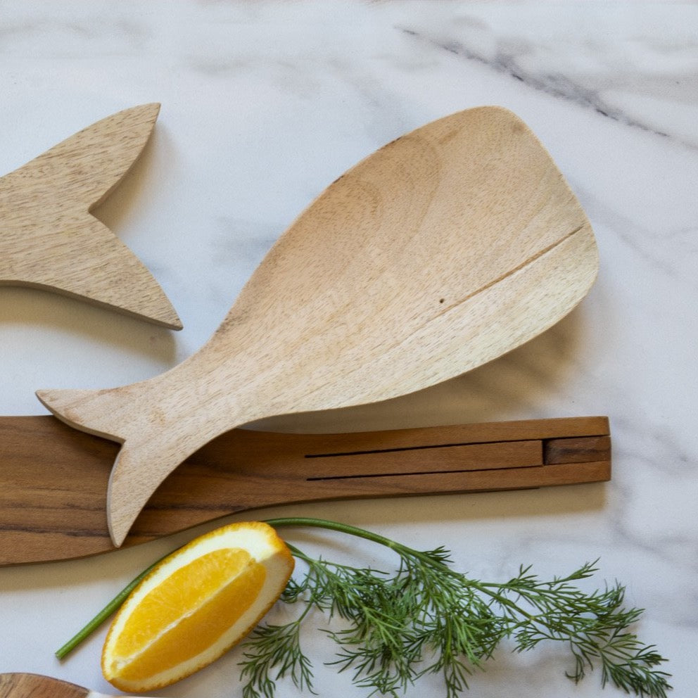 Raw Mango Wood Whale Spoon Rest