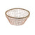 Copper Wire & Cane Fruit Basket