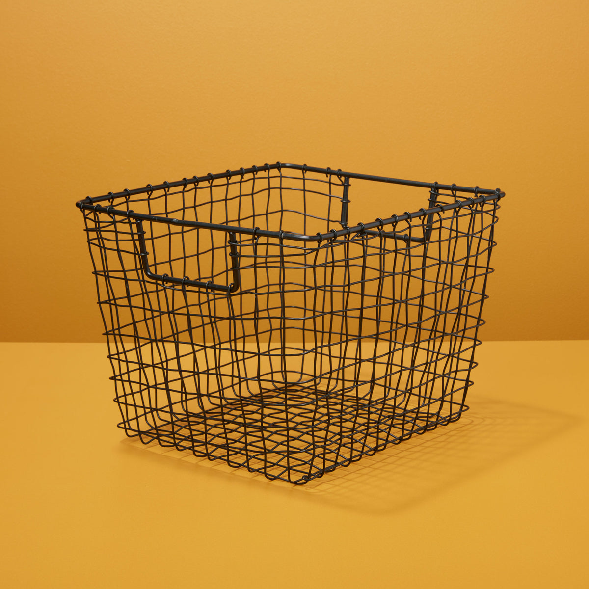 Black Wire Square Basket, Small