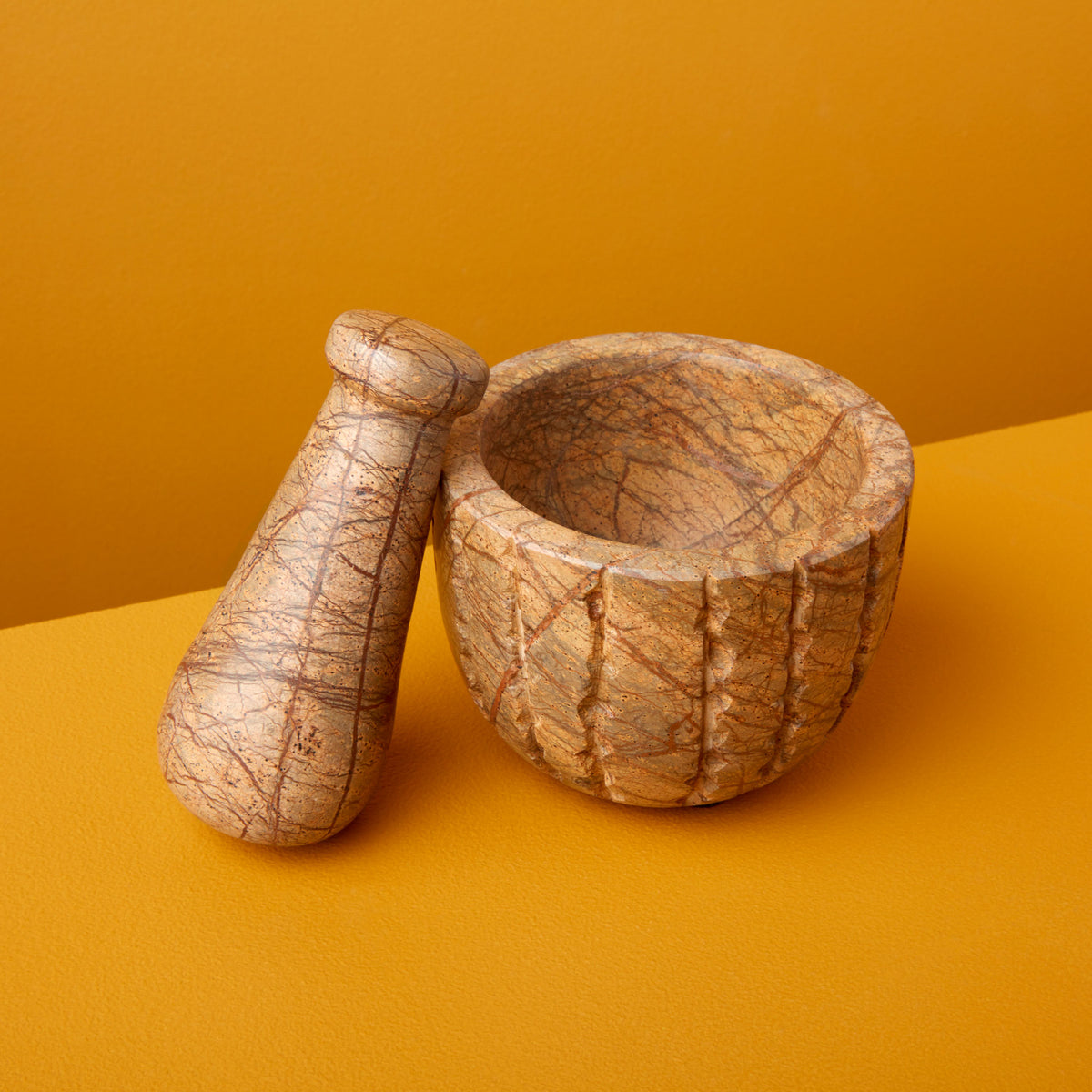 Forest Marble Mortar & Pestle