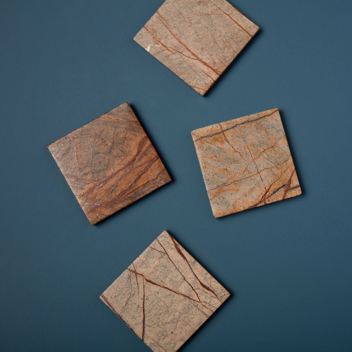 Forest Marble Square Coasters, Set of 4