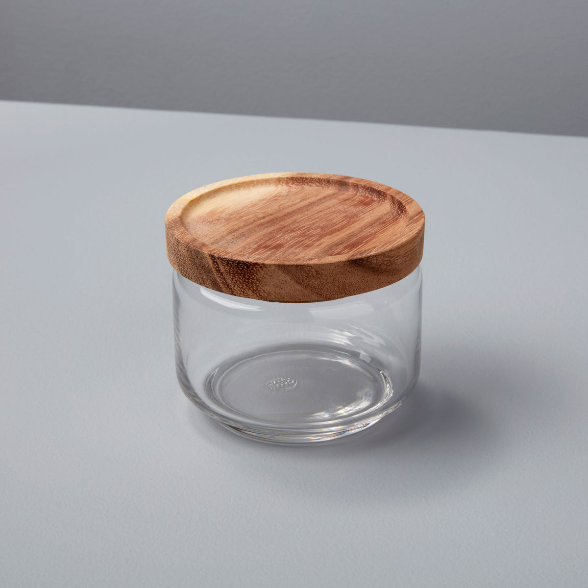 Glass Container with Acacia Lid Small