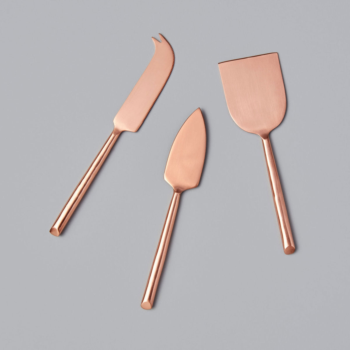 Matte Copper Cheese Knife Set of 3