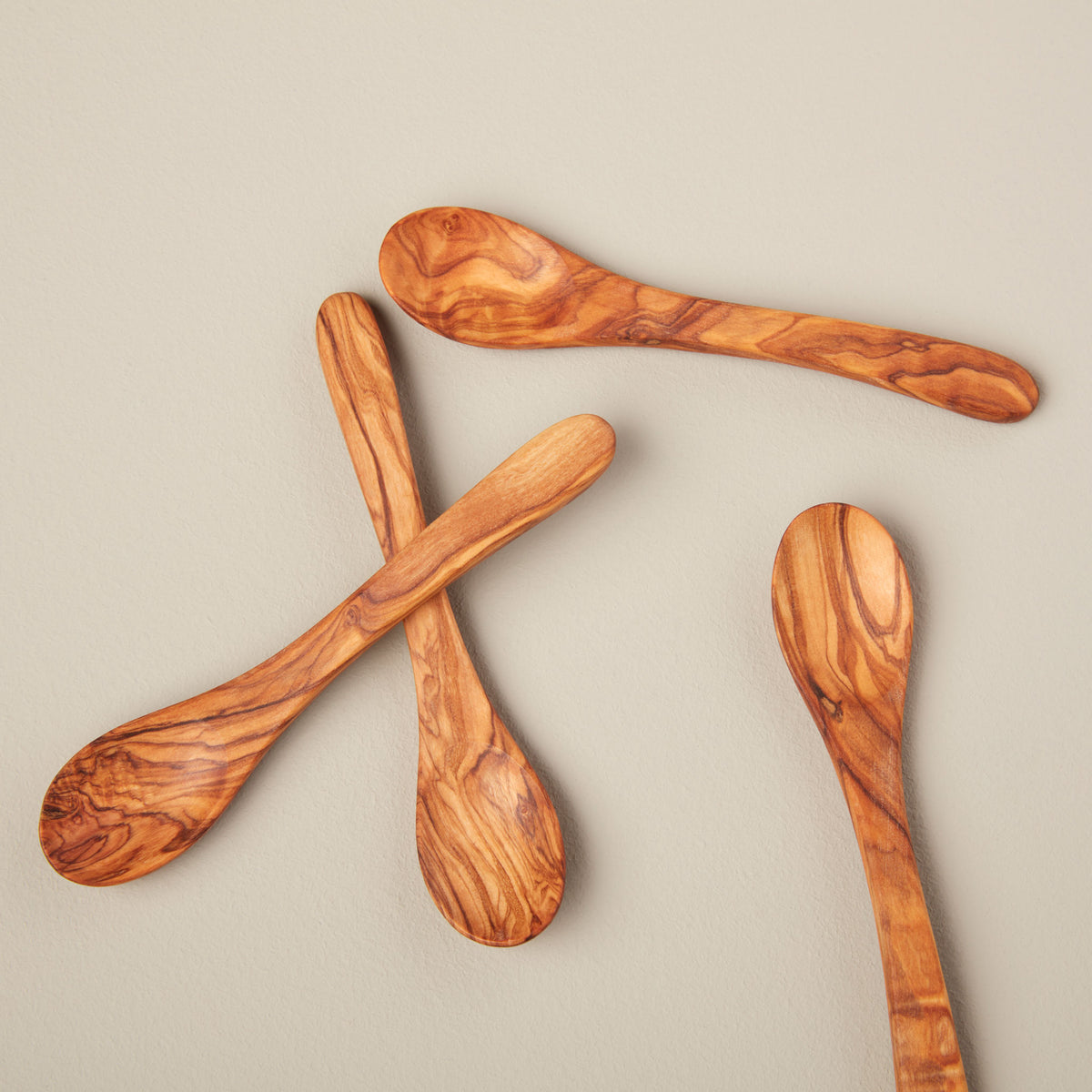 Olive Wood Spoons, Small Set of 4