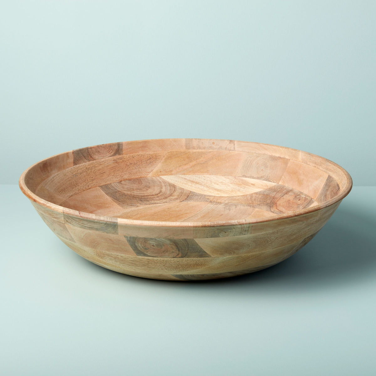 Raw Mango Wood Supersized Round Bowl