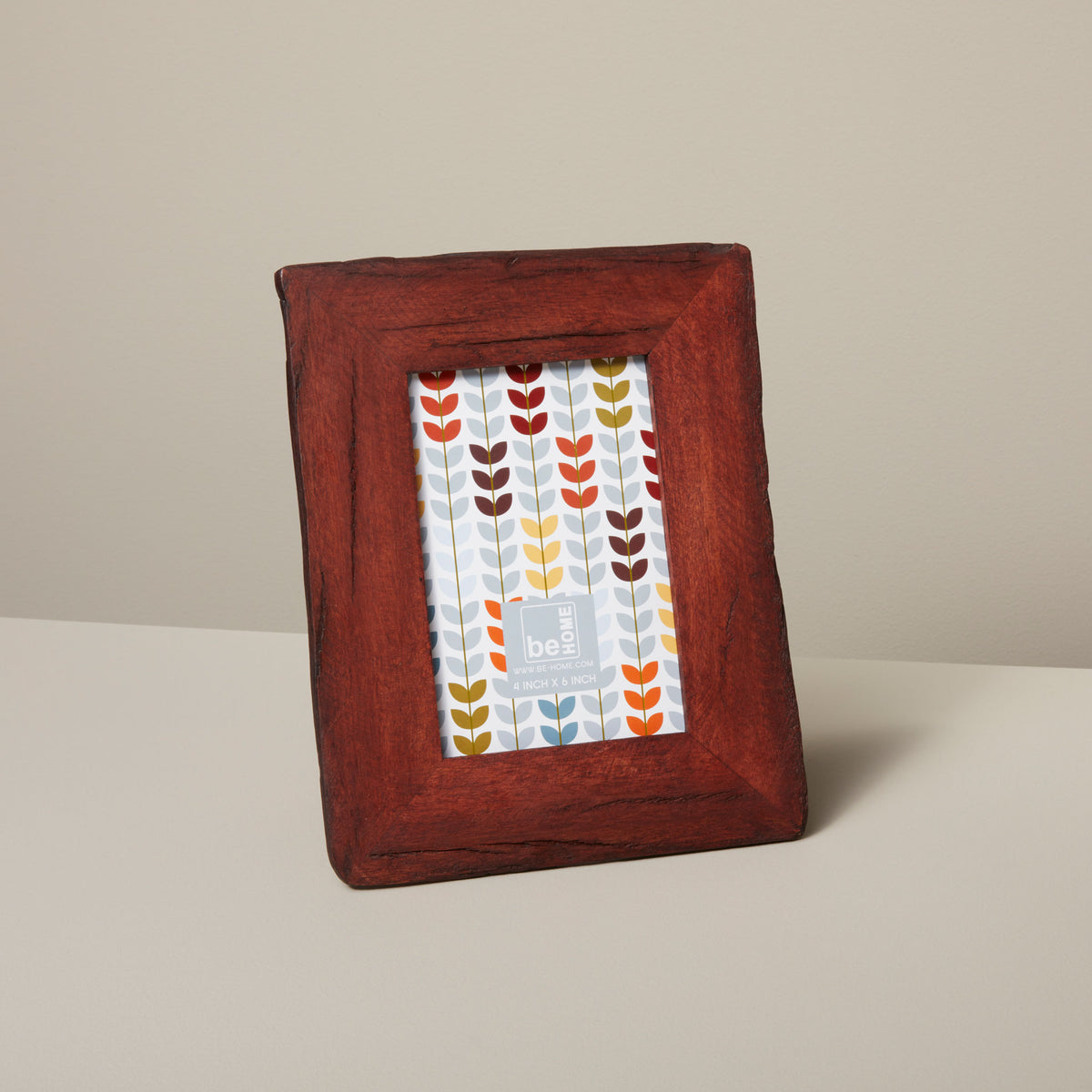 "Red Reclaimed Wood Frame, 4"" x 6"""
