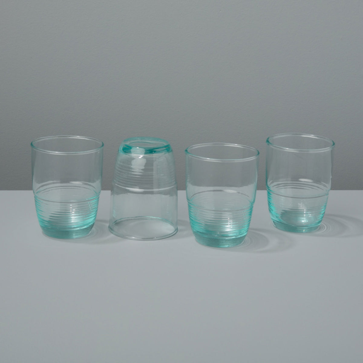 Recycled Glass Ripple Tumbler, Medium  Set of 4
