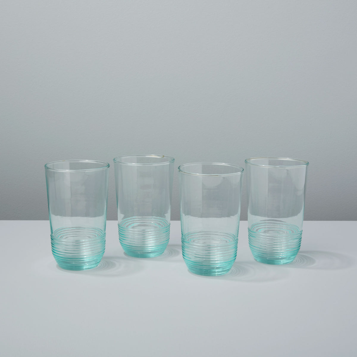 Premium Recycled Glass Ripple Tumbler, Tall Set of 4
