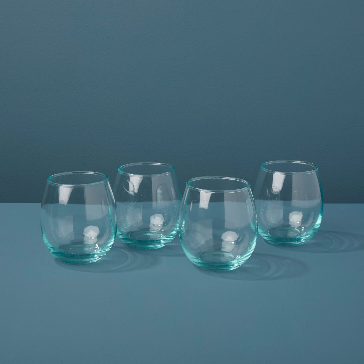 Premium Recycled Glass Stemless Wine Set of 4