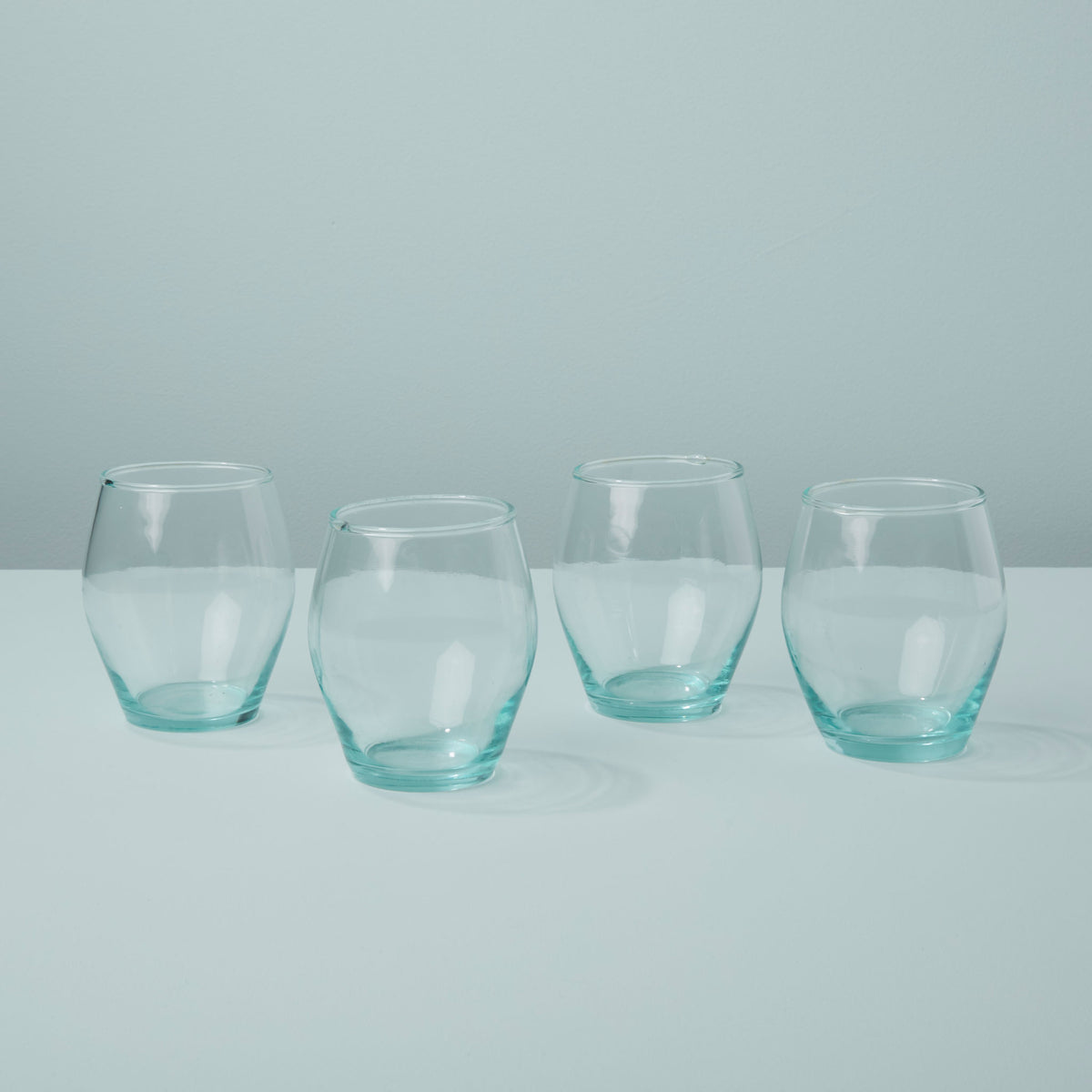 Premium Recycled Glass Stemless Tulip Set of 4