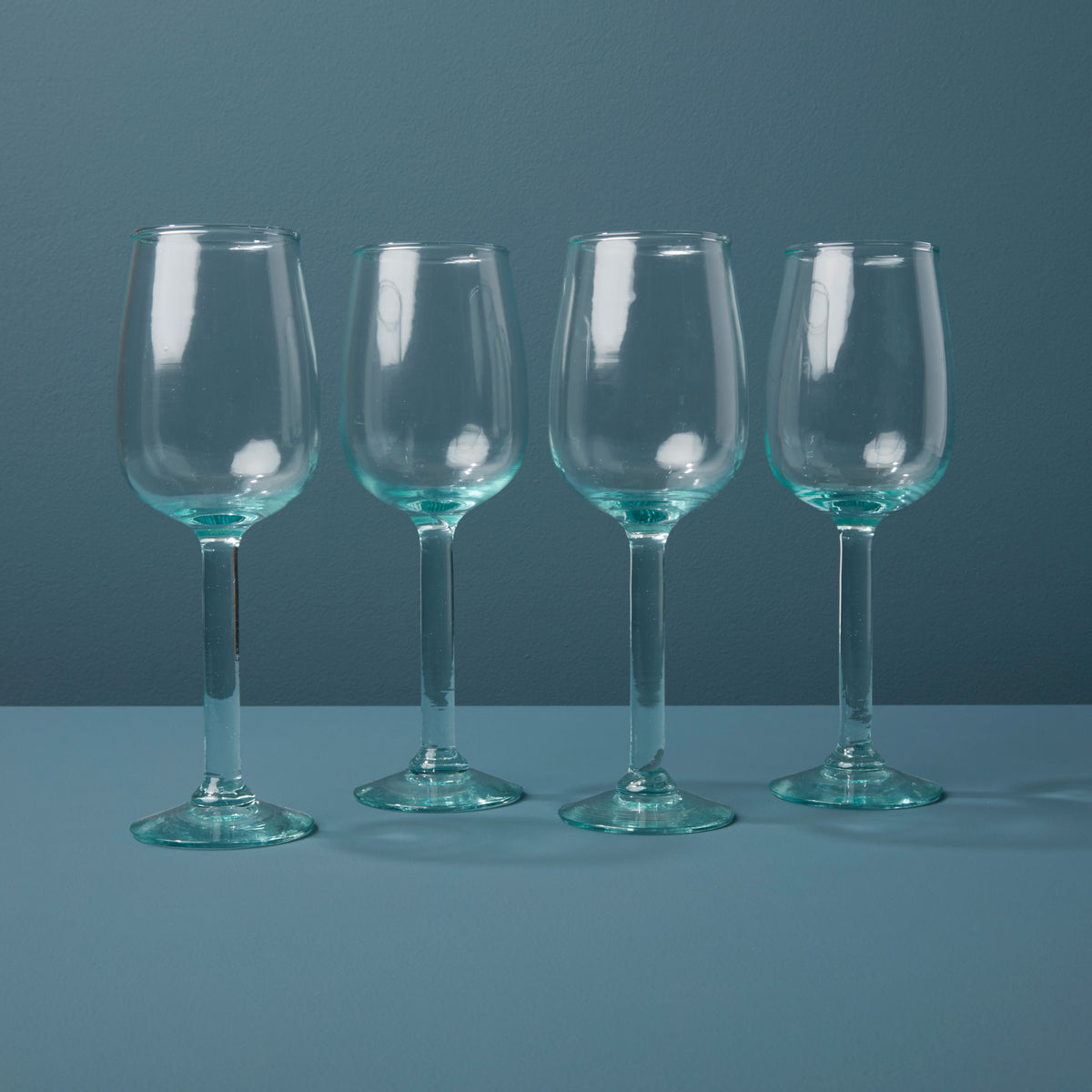 Recycled Glass Stemmed Wine Set of 4