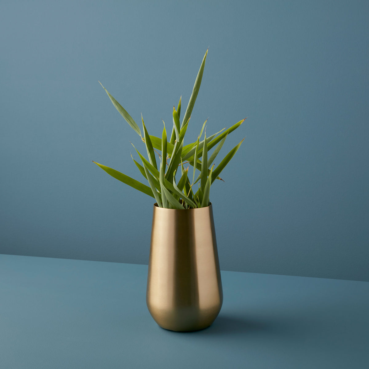 Gold Sloped Large Vase