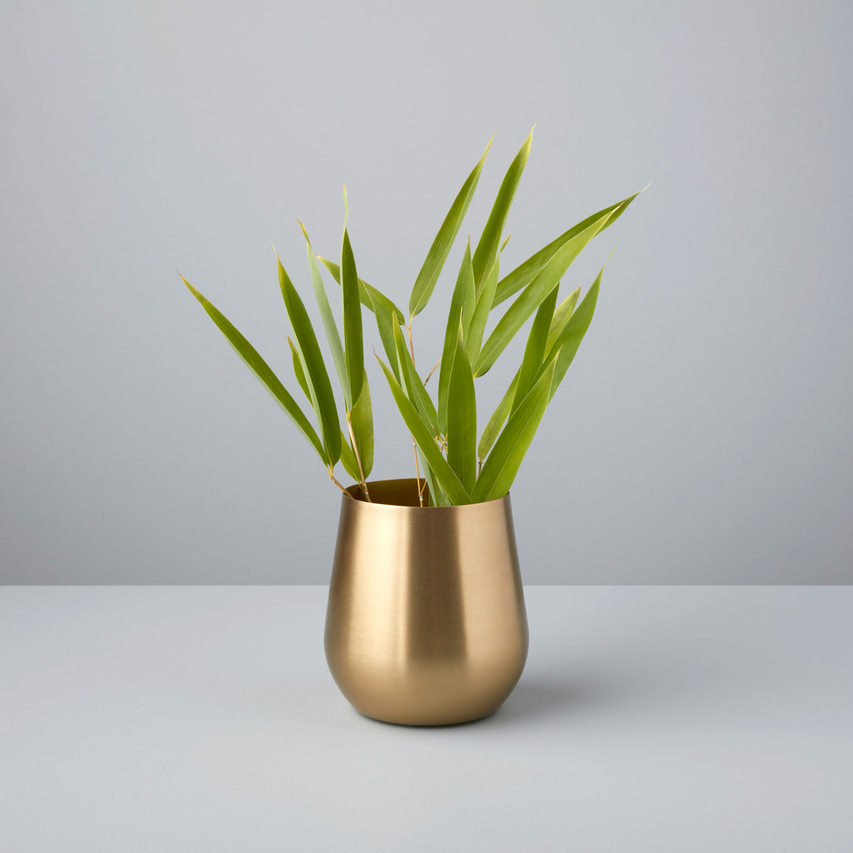 Gold Sloped Small Vase
