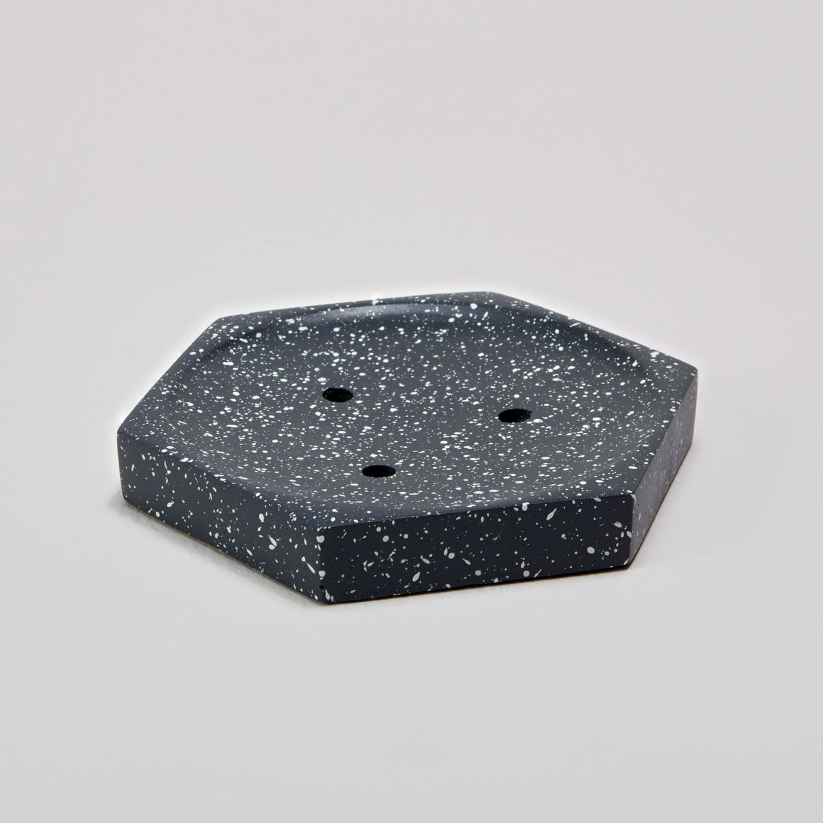 Speckled Cement Soap Dish, Slate