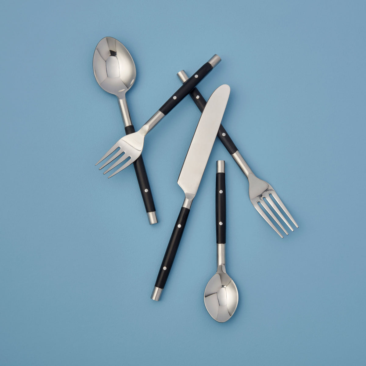 Everyday Stainless with Black Resin Inlay Flatware
