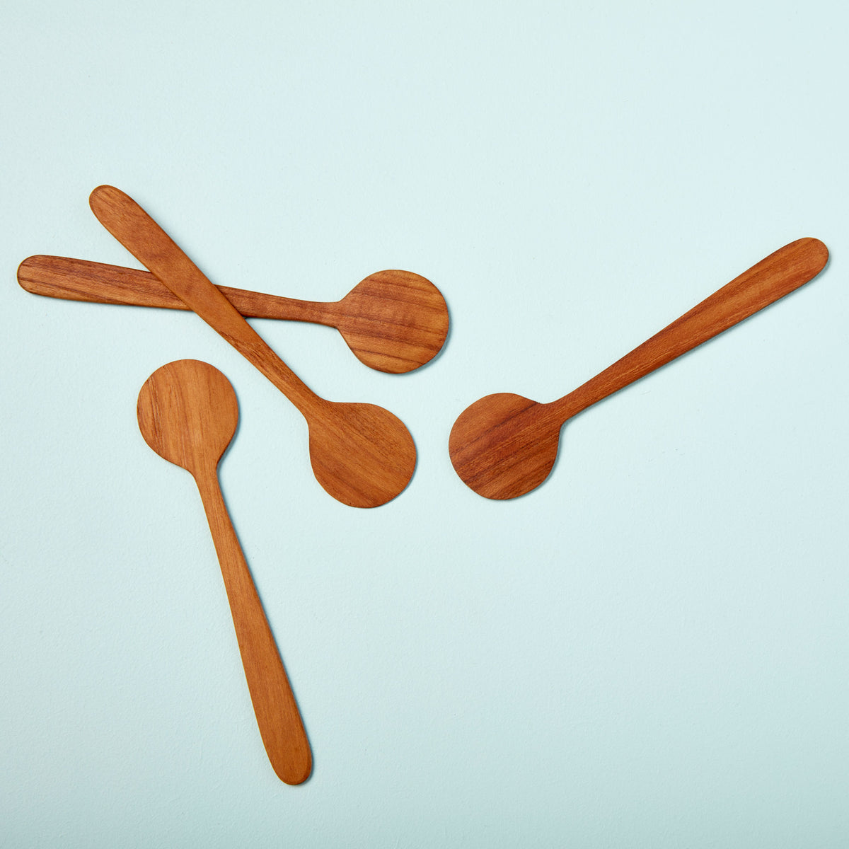 Teak Round Spreaders, Set of 4