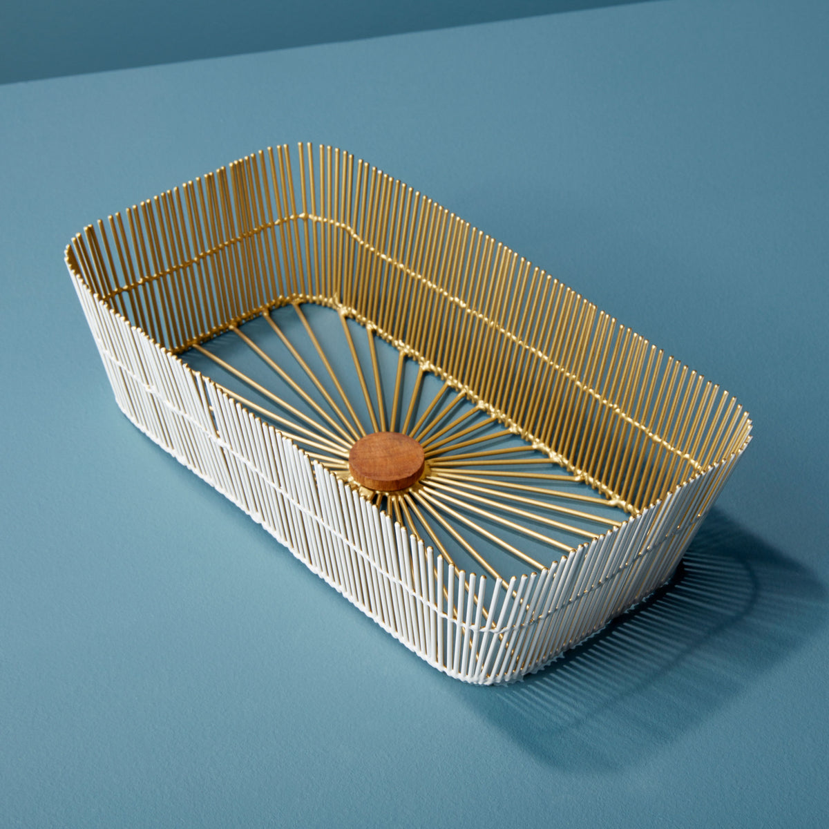 Gilded Wire Bread Basket