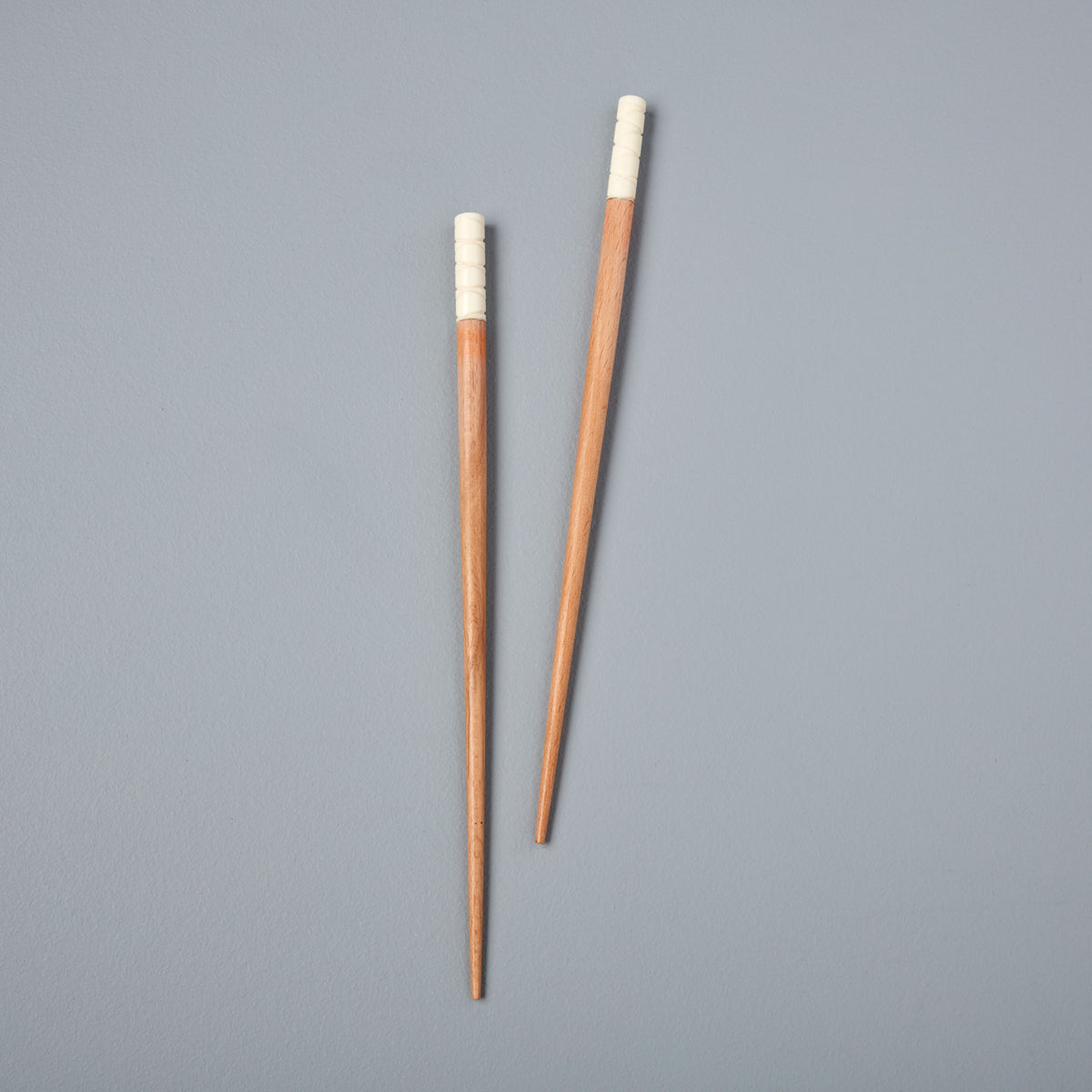 Carved Ivory Resin & Beech Wood Chopsticks