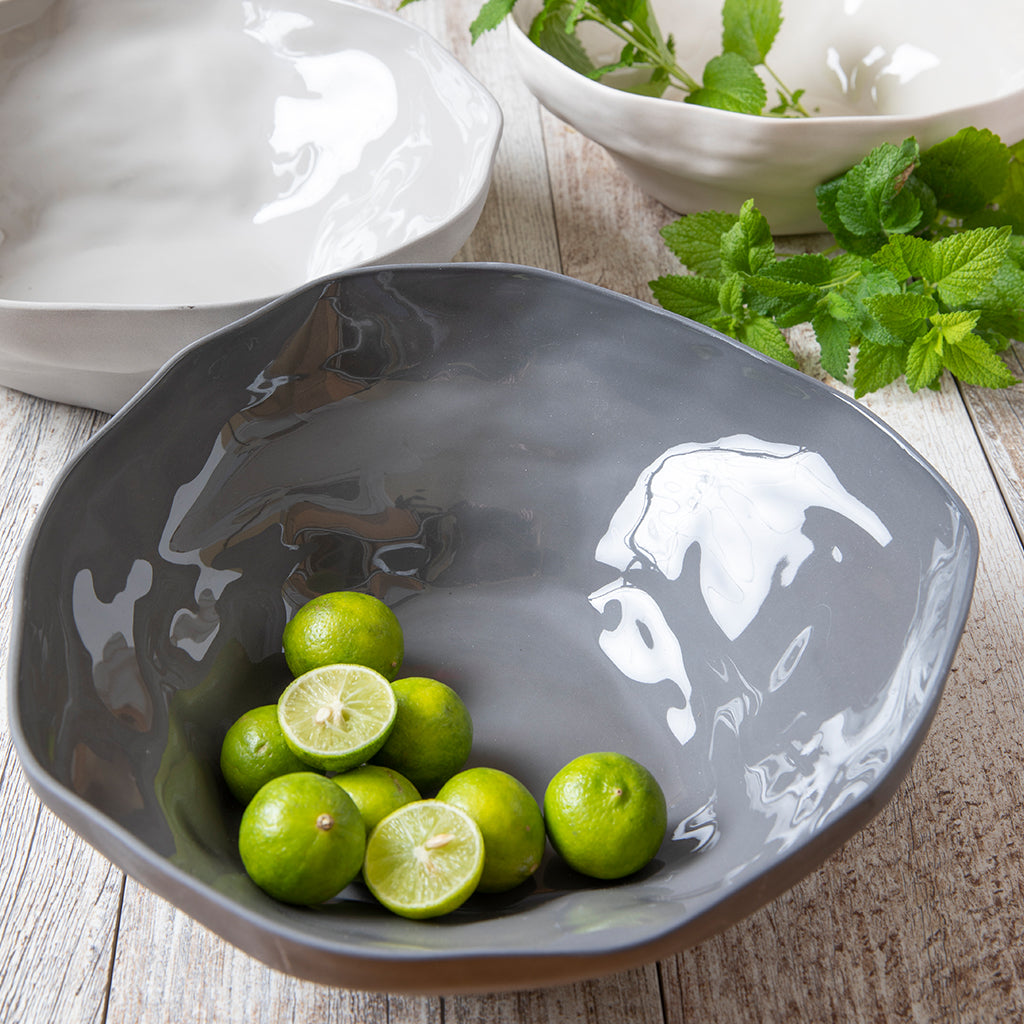 Tam Stoneware Serving Bowl, Slate