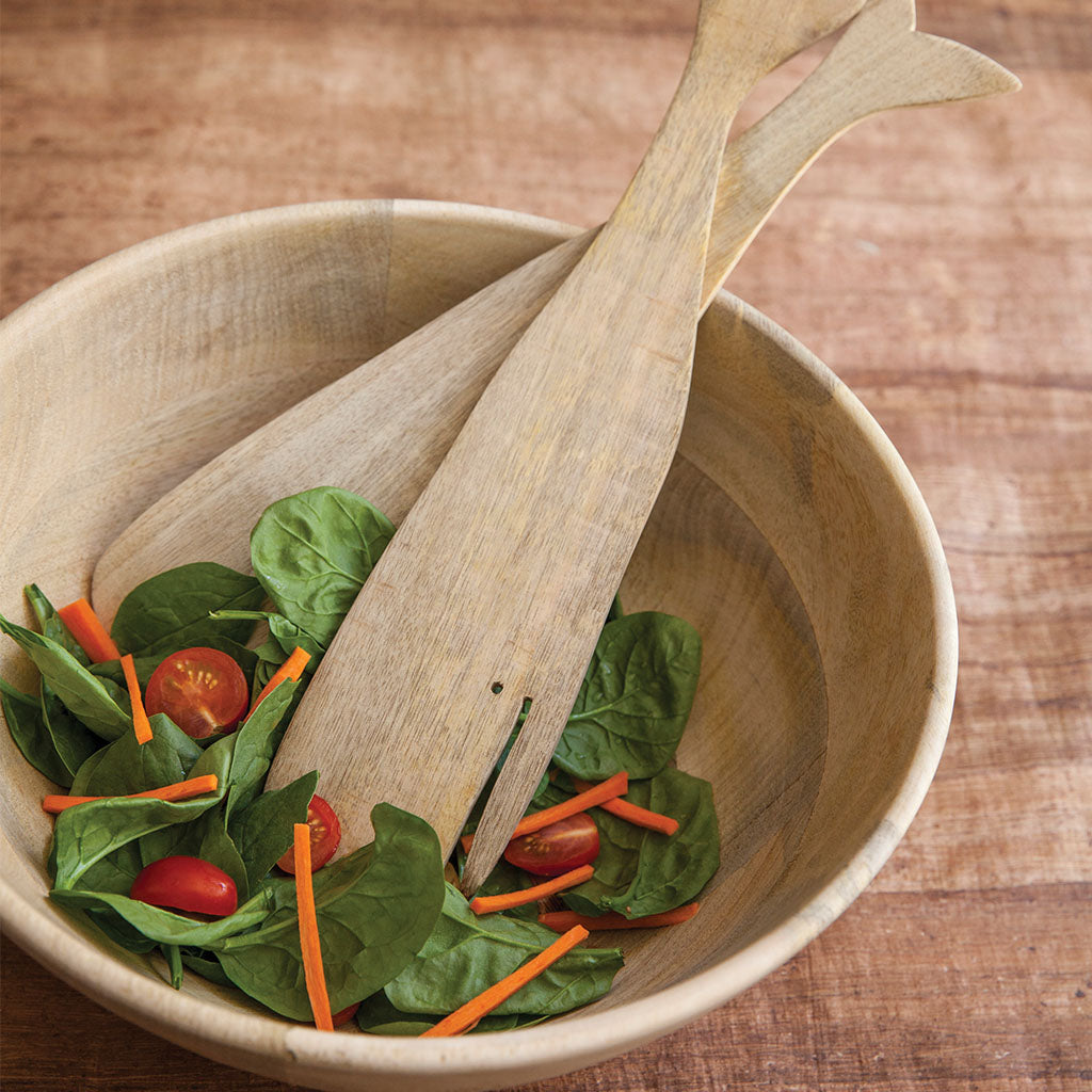 Raw Mango Wood Salad Bowl