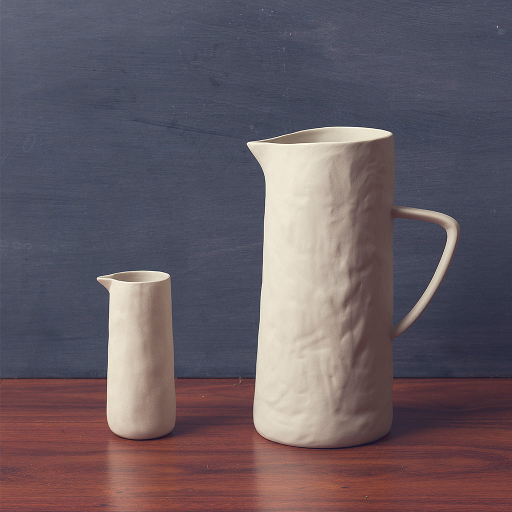 Tam Stoneware Mini Pitcher, Pearl